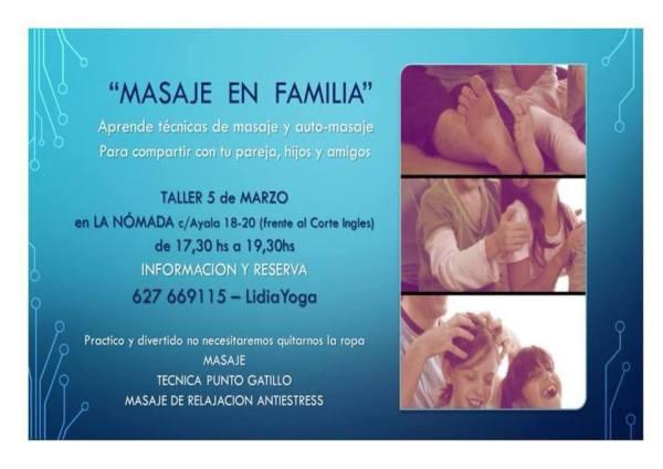 Taller de masaje en familia en La Nómada