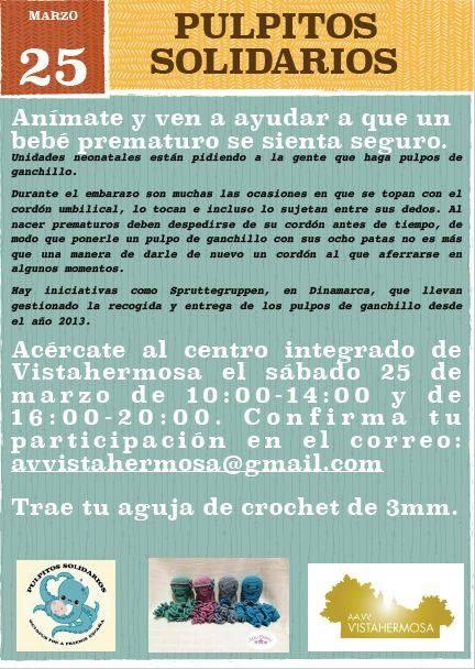 Taller de pulpos solidarios en Vistahermosa