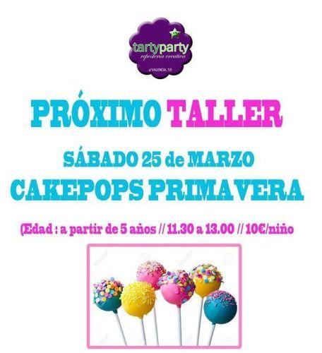 Taller infantil de cakepops de primavera en Tarty Party
