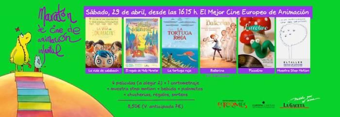 Maratón de cine de Animación infantil en el Tormes de Salamanca