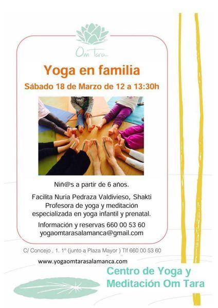 Taller de Yoga en familia en Om Tara