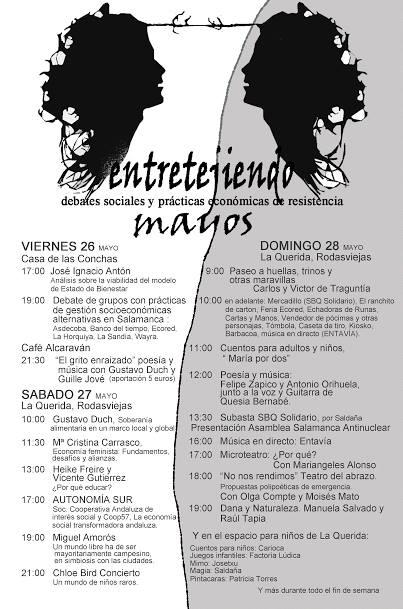 Programa de Entretejiendo Mayos en La Querida