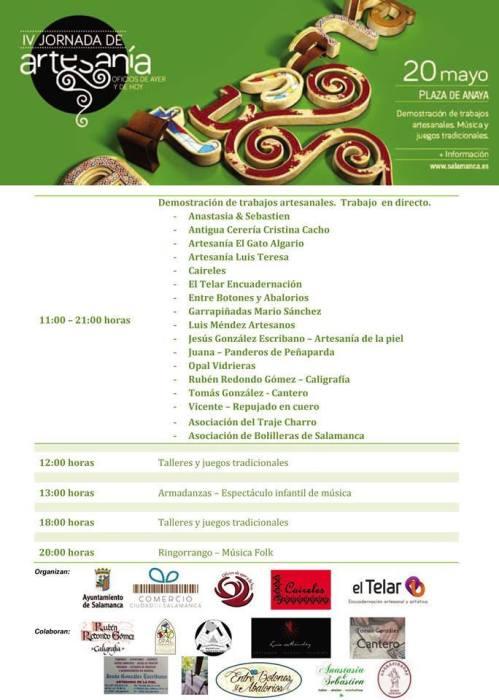 Programa de la IV Jornada de Artesanía Oficios de Ayer y de Hoy