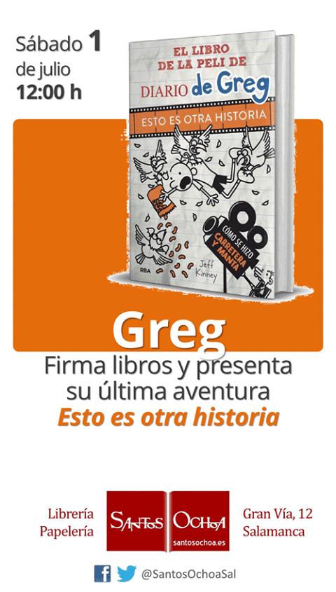Greg firma libros en la librería Santos Ochoa de Salamanca