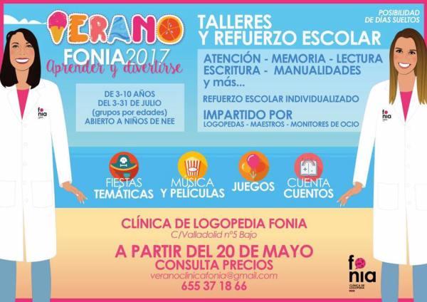 Talleres de verano y refuerzo escolar en la Clínica de Logopedia Fonia