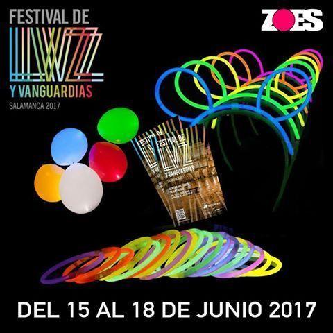 Material que se ilumina para celebrar el Festival de Luz y Vanguardias de Salamanca