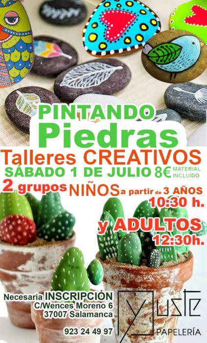 """Taller creativo infantil """"Pintando piedras"""" en la librería Yuste de Salamanca"""