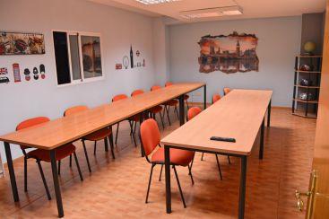 Una de las aulas de Ian & Eoin en Salamanca