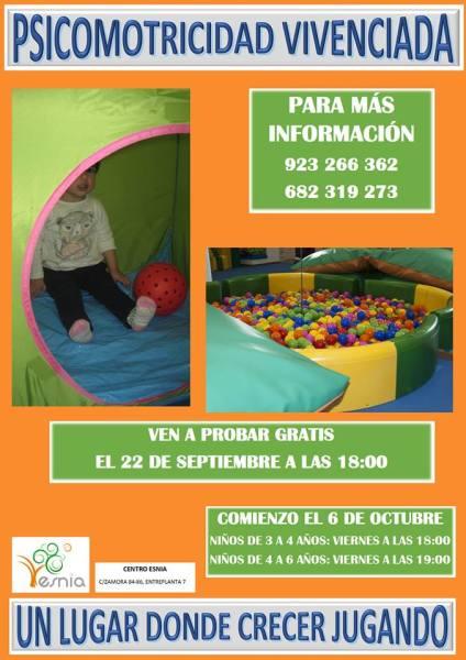 Clase de prueba de psicomotricidad vivenciada en Centro Esnia Salamanca