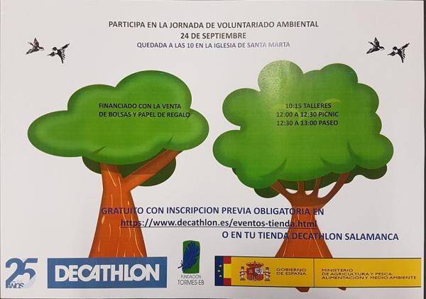 Apúntate a la jornada de voluntariado ambiental organizada por Decathlon Salamanca