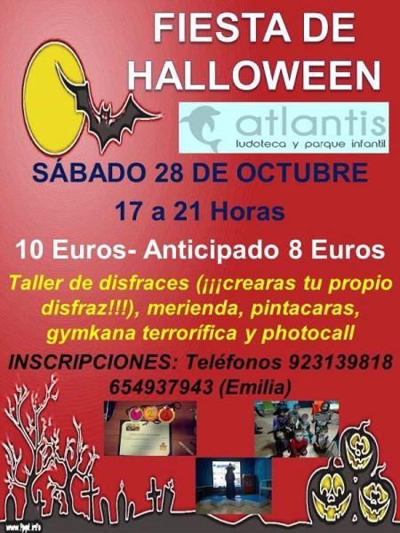 Fiesta de Halloween en la ludoteca Atlantis de Santa Marta