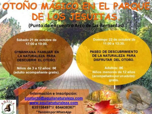Disfruta del otoño mágico que te plantea Aquila con su gymkana y su paseo por la naturaleza en Salamanca