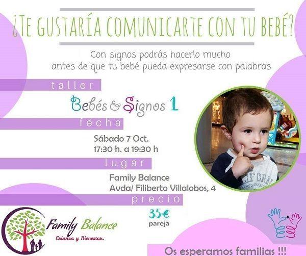 Taller de signos para bebés en Family Balance