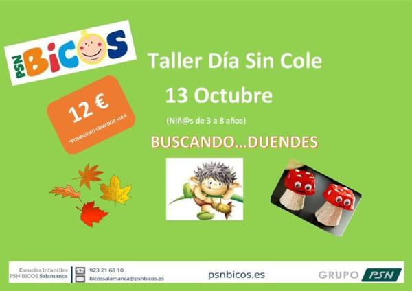 Taller Día sin Cole en Bicos Salamanca