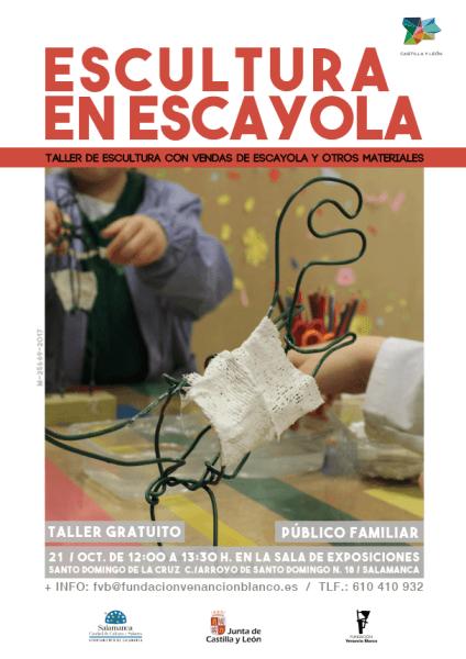 """Taller infantil creativo de la Fundación Venancio Blanco """"Escultura en escayola"""""""