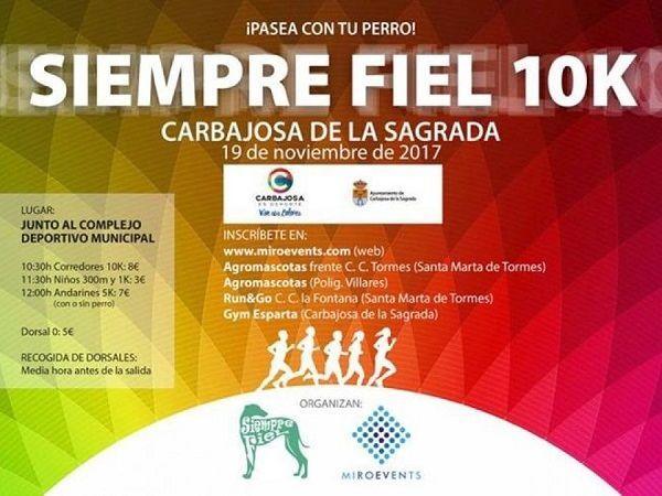 Carrera Solidaria Siempre Fiel 10K en Carbajosa de la Sagrada