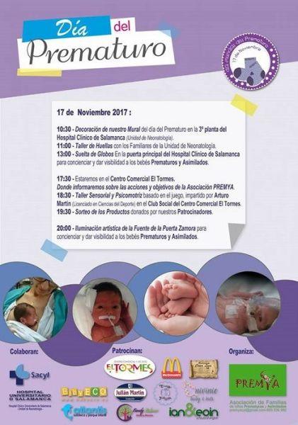 Celebra el Día del Prematuro con la Asociación Premya de Salamanca