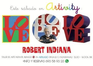 Robert Indiana en el Artivity, taller infantil de arte en inglés en Salamanca
