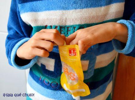Las bolsas Squiz las puede rellenar hasta un niño
