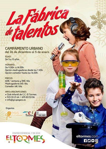 """Campamento urbano """"La fábrica de talentos"""" en el C.C. El Tormes"""