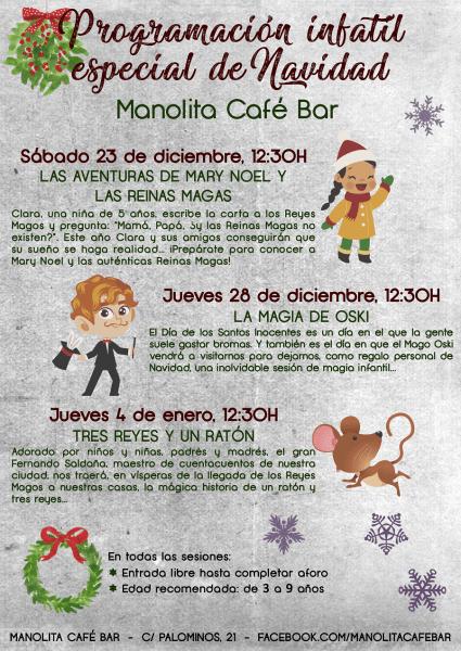 Programación de Navidad en el Manolita