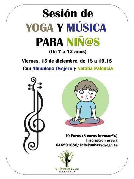 Sesión de yoga y música para niños en Universo Yoga