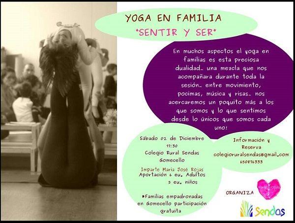 Taller de yoga en familia en el Colegio Rural Sendas
