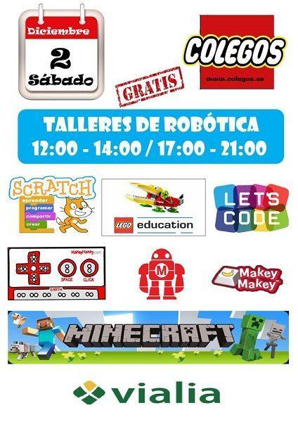 Talleres infantiles de robótica con Colegos en Vialia Salamanca