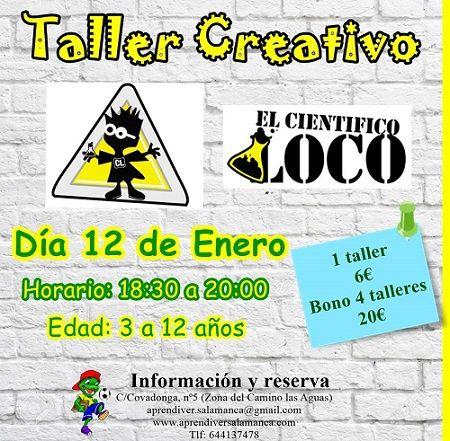 """Taller creativo """"El científico loco"""" en Aprendiver"""