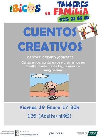 Taller de cuentos creativos en PSB Bicos