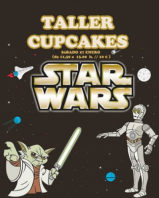 Taller infantil de cupcakes de Star Wars en Tarty Party
