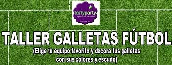 Taller infantil de galletas de fútbol en Tarty Party