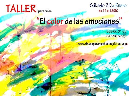 Taller infantil de pintura y emociones en el Rincón para mentes inquietas