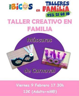 Taller creativo de máscaras de Carnaval en Bicos