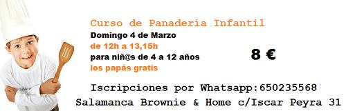 Curso de panadería infantil en Brownie & Home