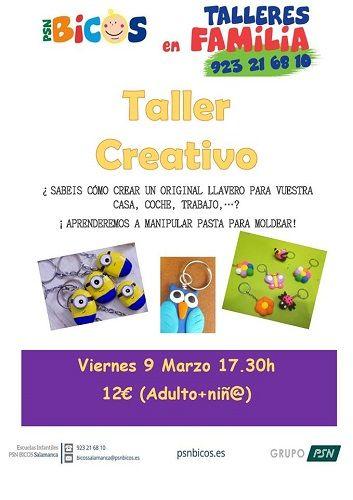 Taller creativo en familia en PSN Bicos Salamanca
