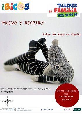Taller de yoga en familia en PSN Bicos Salamanca
