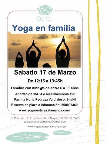 Taller de yoga en familia en el Centro de Yoga Om Tara
