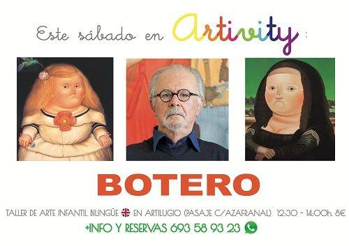 Botero en el Artivity, taller infantil de arte en inglés