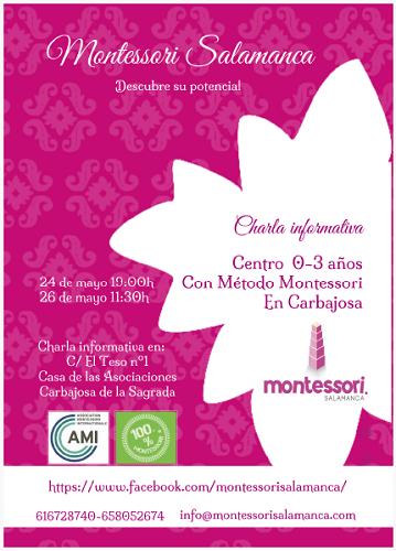 Charla informativa para conocer el nuevo Centro Montessori en Carbajosa