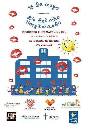 Lanza besos para celebrar el Día del Niño Hospitalizado