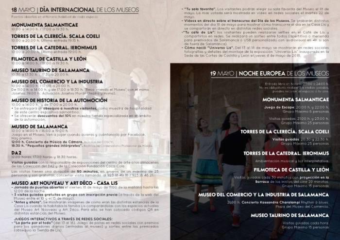 Programación del Día Internacional del Museo en Salamanca