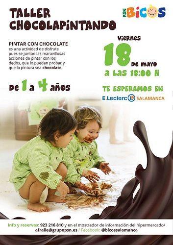 Taller chocolapintando con Bicos en E. Leclerc