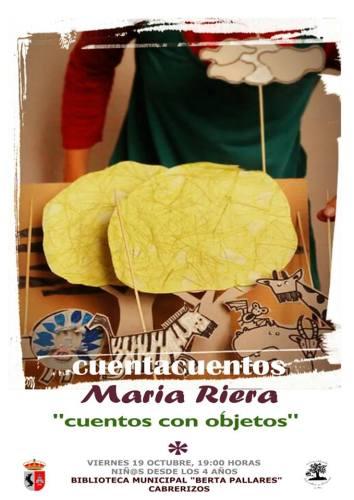 Cuentacuentos con María Riera en la Biblioteca de Cabrerizos