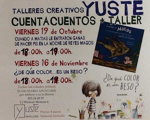 Cuentacuentos y taller creativo en la librería Yuste
