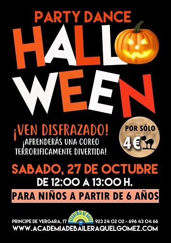 Fiesta de Halloween en la academia de baile de Raquel Gómez en Salamanca