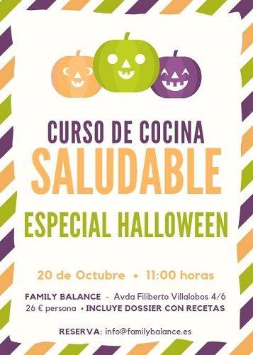 Taller de cocina saludable con temática de Halloween en Family Balance