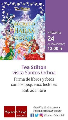 Tea Stilton en la librería Santos Ochoa