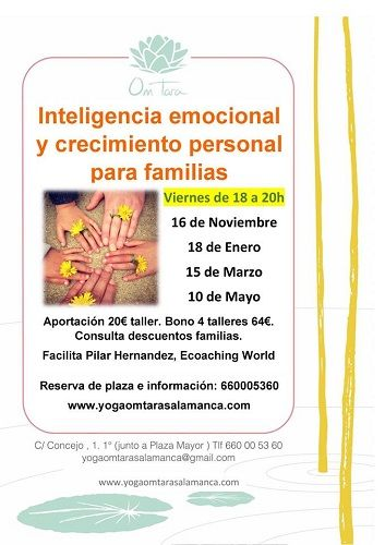 Talleres de inteligencia emocional para familias en el Centro de Yoga Om Tara