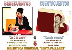 Cuentacuentos y bebecuentos con Katua en la biblioteca de Cabrerizos